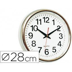 Reloj de pared plastico 30 cm marco color dorado