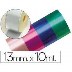 Cinta fantasia color plata 13 mm