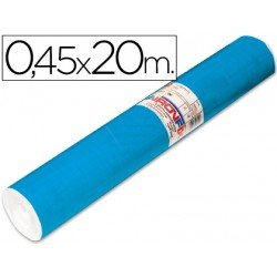 Rollo adhesivo Aironfix color azul medio mate 67014