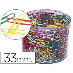 Clips colores Nº 2 marca Cps 33 mm
