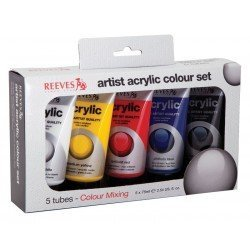 Pintura Acrilica Reeves 5 colores surtidos 75 ml