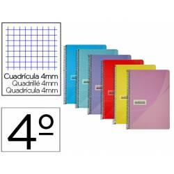 Cuaderno espiral papercop tamaño MEDIO FOLIO tapa plástico 80 hojas de 90gr/m2 4mm con margen (NO SE PUEDE ELEGIR COLOR)