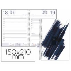 Agenda 2019 Espiral Syros Dia pagina A5 Azul Liderpapel
