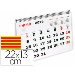 Calendario espiral triangular 2019 22x13 120gr Catalan Liderpapel