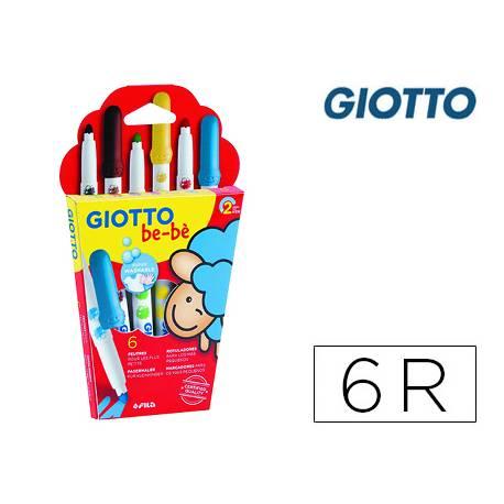 Rotulador Giotto Super Bebé Caja 6 Colores Surtidos