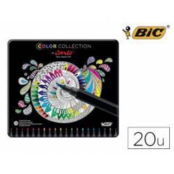 Rouladores de colores marca Bic Color Collection by Conte 20 unidades