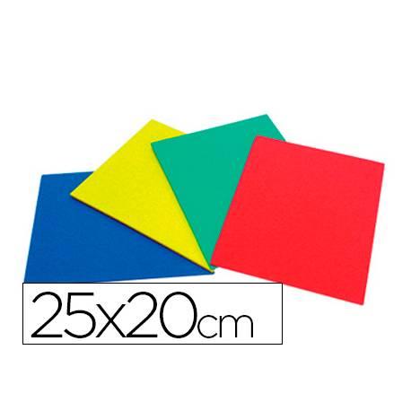 Caucho Alfombrilla color plancha 25x20 cm para punzon picado
