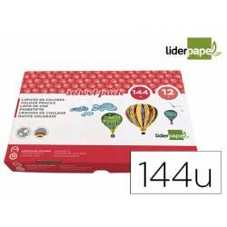 Lapices de colores Liderpapel School Hexagonal Colores Surtidos Caja 144 unidades