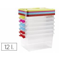 Caja multiusos grande de plastico con asa 340X270X180 mm