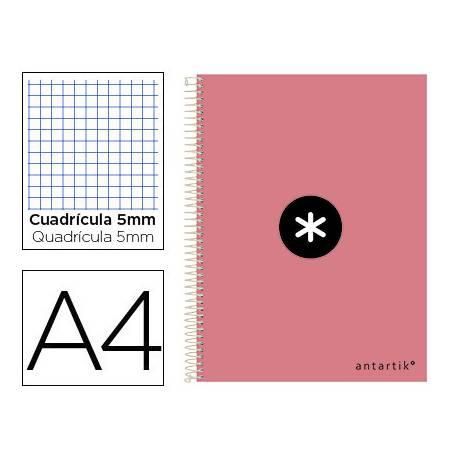 Cuaderno espiral Antartik DIN A4 Tapa dura 100g/m2 Coral