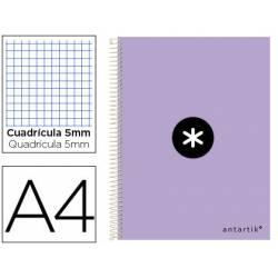 Cuaderno espiral Antartik DIN A4 Tapa dura 100g/m2 Lila