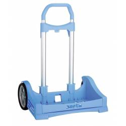 Carrito Para Mochila Safta 54x40x28 cm de Aluminio Evolution color Azul claro