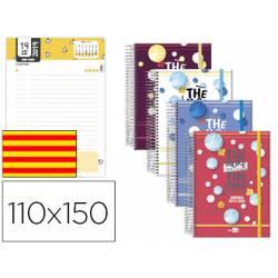 Agenda Escolar 19-20 Dia pagina Mini con Espiral Catalan Liderpapel Classic No se puede elegir color