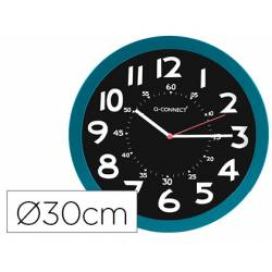Reloj de pared de Q-Connect azul 30 cm