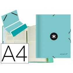Carpeta Antartik clasificadora DIN A4 con 12 departamentos en Carton forrado Menta