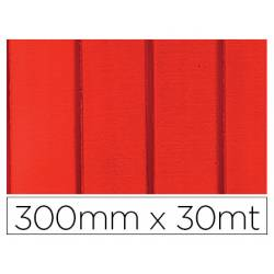 PAPEL FANTASIA COLIBRI SIMPLE MATE ROJO CON RAYAS BOBINA 300 MM X 30 MT