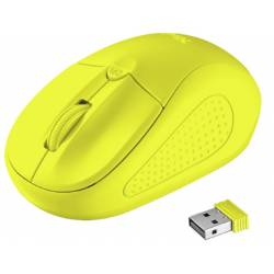 RATON TRUST PRIMO OPTICO 1600 DPI INALAMBRICO MICRO USB 2,4 GHZ COLOR AMARILLO