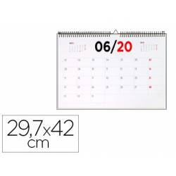 Calendario de pared 2020 42x29.7cm 70gr Liderpapel