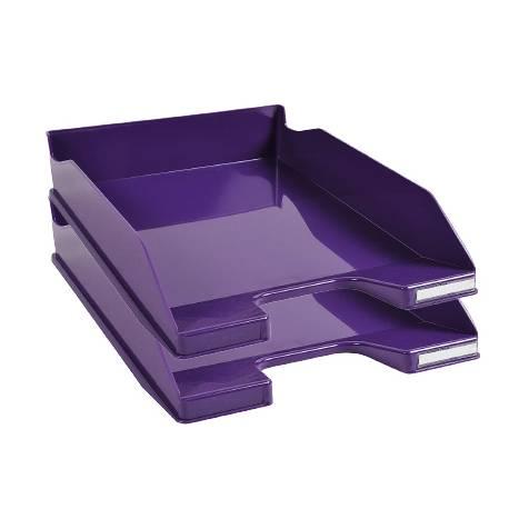 Bandeja sobremesa Exacompta Combo 2 Classic Violeta 347x255x65mm