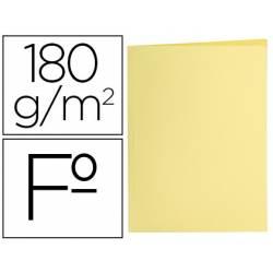 Subcarpeta de cartulina Liderpapel tamaño folio Amarillo pastel 180g/m2