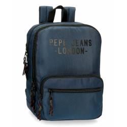 "Mochila Pepe Jeans 36x27x12 cm para portátil 13,3"" azul de poliéster."