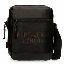 Bandolera Portatablet Pepe Jeans Bromley Negra 27x23x6cm