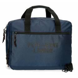 Carterón Portaordenador Pepe Jeans Bromley Azul 30x40x14cm