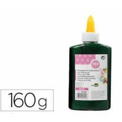 Pegamento purpurina Liderpapel Fantasia color Verde metalizado Bote 160gr