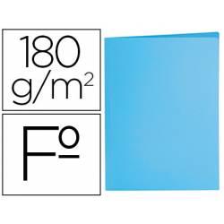 Subcarpeta de cartulina Liderpapel tamaño folio azul pastel 180g/m2.