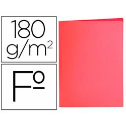 Subcarpeta de cartulina Liderpapel Tamaño folio Rojo pastel 180g/m2