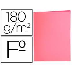 Subcarpeta de cartulina Liderpapel Tamaño folio Rosa pastel 180g/m2