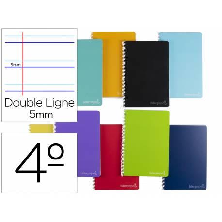 Cuaderno espiral Liderpapel Witty Tamaño cuarto Tapa dura Rayado 75g/m2 montessori Colores surtidos