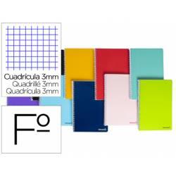 Cuaderno espiral Liderpapel folio smart Tapa blanda 80h 60gr cuadro 3mm con margen Colores surtidos (no se puede elegir)