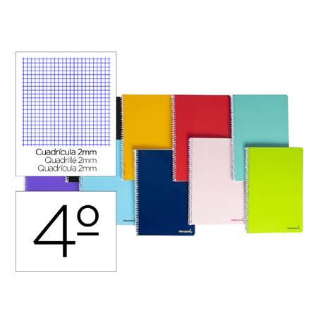 Cuaderno espiral Liderpapel cuarto smart Tapa blanda 80h 60gr Milimetrado 2mm Colores surtidos (no se puede elegir)