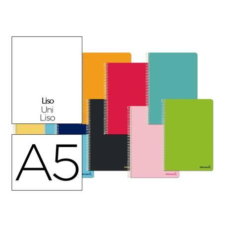 Cuaderno espiral Liderpapel cuarto smart Tapa blanda 80h 60gr Liso Sin margen Colores surtidos (no se puede elegir)