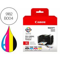 Cartucho Canon PGI-1500 XL BK / C / M / Multipack 4 colores 9182B004