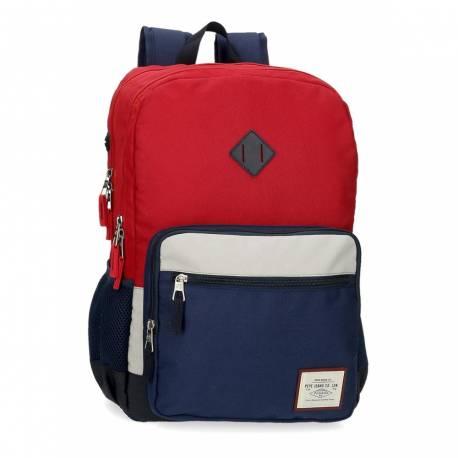 Mochila Pepe Jeans Dany Dos Compartimentos Adaptable Roja (61224D2)