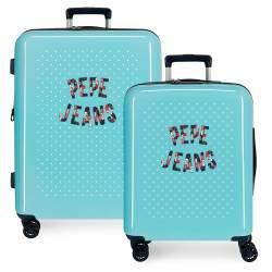 Juego de maletas rígidas 55-70 cm Pepe Jeans Emory Dots