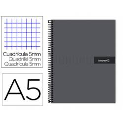 Bloc liderpapel Din A5 micro crafty cuadrícula 5mm tapa forrada 90 gr color negro