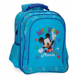 Mochila Escolar Mickey Stars Dos Compartimentos (4782561)