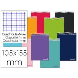 """Bloc Liderpapel octavo apaisado bolsillo smart cuadrícula 4 mm tapa blanda 60 gr color """"no se puede elegir"""""""