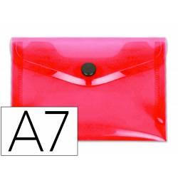 Carpeta dossier broche Liderpapel DIN A7 polipropileno 180 micras 50 hojas color rojo