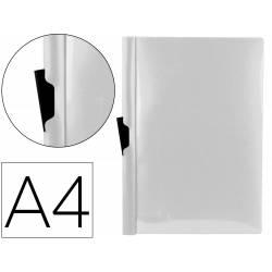 Carpeta dossier con pinza lateral Liderpapel 60 hojas Din A4 color transparente