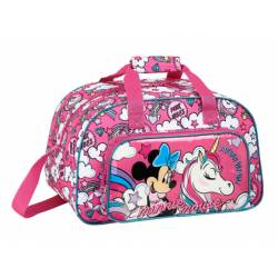 CARTERA ESCOLAR SAFTA MINNIE MOUSE UNICORNS BOLSA DEPORTE 400X230X240 MM