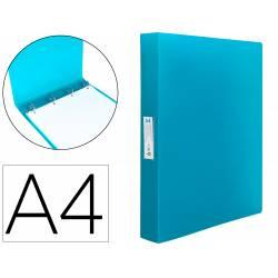 Carpeta Liderpapel 4 anillas polipropileno DIN A4 25mm color azul