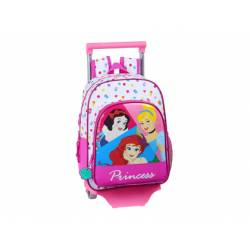 CARTERA ESCOLAR CON CARRO SAFTA PRINCESAS BE BRIGHT 330X140X420 MM