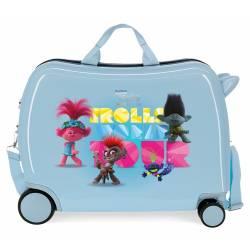 Maleta Infantil Trolls con 2 ruedas multidireccionales
