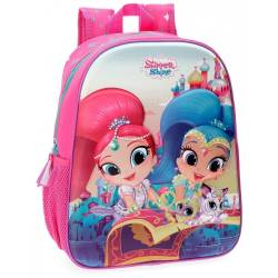 Mochila preescolar Shimmer and Shine Shiny 33cm frontal 3D (4352261)