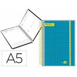 Agenda escolar liderpapel 20-21 college din-a5 bilingue un dia pagina polipropileno portada personalizable