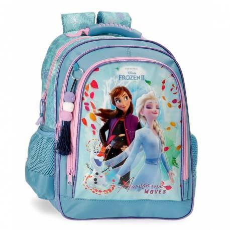 Mochila Escolar Frozen Awesome Moves Doble Compartimento (4052521)